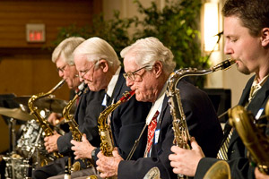 Aces of Collegeland perform at the Floyd Graham Society luncheon, Homecoming 2009.