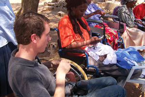 Graham Sowa ('08) provides HIV/AIDS information and support in Botswana.