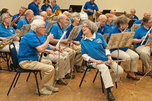 The New Horizons Band performs at the Denton Arts & Jazz Festival in April. (Photo by Jonathan Reynolds)