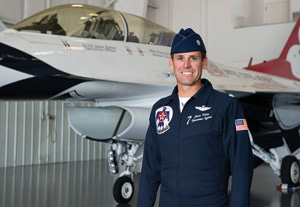 "Lt. Col. Jason ""Buzzer"" Koltes ('94) (Photo by Michael Clements)"