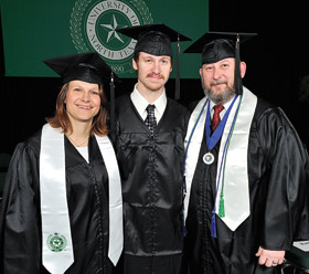 Donna ('11), Joshua ('11) and Kenneth Hill ('10, '11) (Photo by Michael Clements)