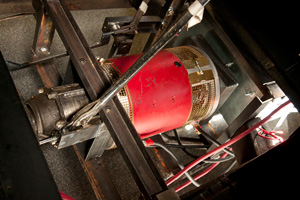 The NetGain Warp9 motor used in the UNT Ford Model A conversion. (Photo by Jonathan Reynolds)