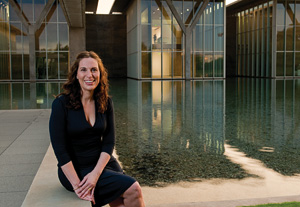 Andrea Karnes ('88), curator at the Modern Museum of Art in Fort Worth, organizes art from galleries and collectors from around the world for exhibitions. (Photo by Jonathan Reynolds)