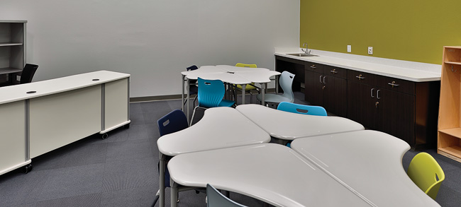 Autism center classrooms. (Photo by Michael Clements)