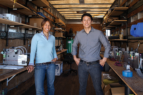 Gia Schneider ('95 TAMS) and her brother Abe Schneider ('98 TAMS), founders of San Francisco-based Natel Energy, developed a patented low-cost, low-impact system that can generate electricity from manmade waterways, irrigation canals and nonpowered dams. (Photo by Melissa Barnes)