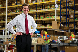 Brian Heldebrandt ('97), regional manager for supply chain operations at Verizon. (Photo by Gary Payne)
