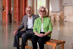 Horace and Euline Brock  ('74 Ph.D.) (Photo by Jonathan Reynolds)