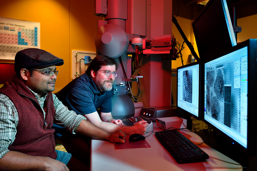 Researchers in UNT's Materials Research Facility