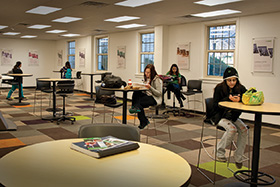 Sage Hall group learning spaces (Photo by Jonathan Reynolds)