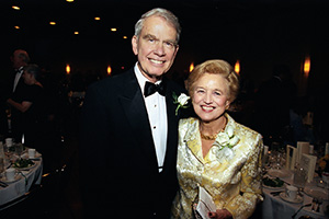 Alfred F. Hurley and his wife, Johanna, at a gala in 2002. (Photo by Angilee Wilkerson)