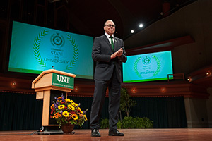 UNT President Neal Smatresk (Photo by Gary Payne)