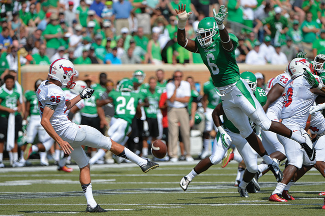The Mean Green beat SMU 43-6 in the September home opener at Apogee Stadium. (Photo by Michael Clements)
