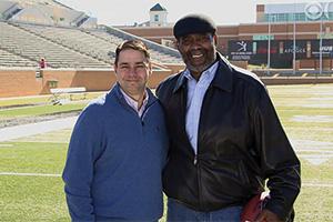 """Tommy Okon and """"Mean"""" Joe Green (Photo courtesy of CBS)"""