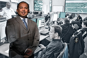 Juan Ortiz ('94), emergency management coordinator for the city of Fort Worth (Photo by Gary Payne)