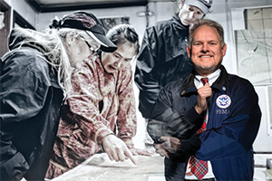 Kent Baxter ('88), management analyst in the Office of the Regional Administrator at FEMA Region 6 in Denton (Photo by Gary Payne)