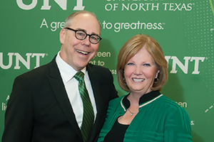 President Neal Smatresk and his wife, Debbie, look forward to meeting alumni and the campus community. (Photo by Jonathan Reynolds)