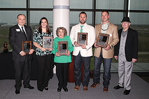 2014 UNT Athletic Hall of Fame inductees (Photo by Rick Yeatts)