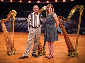 David Williams ('78) and Jaymee Haefner (Photo by Erin Lancaster)