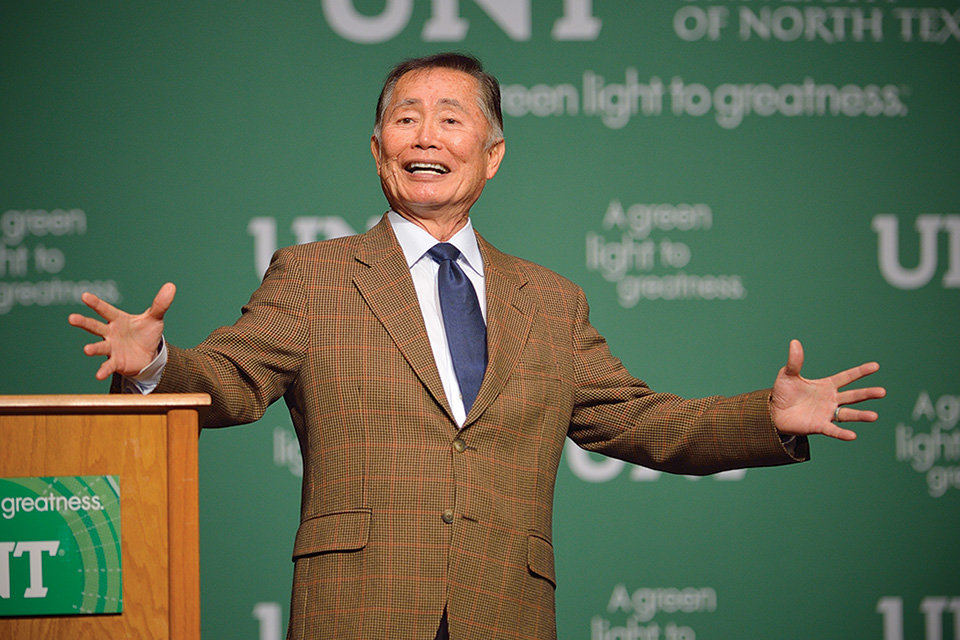 Actor Social Justice Activist George Takei Visits Unt As