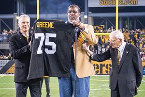 """""""Mean"""" Joe Greene (Photo by Karl Roser/Pittsburg Steelers)"""