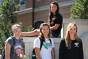 Chloe Tong, Krista Rossum, Michelle Balcaen and Sarah Manning