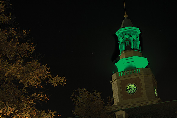McConnell Tower on the Hurley Administration Building (Photo by Ahna Hubnick)