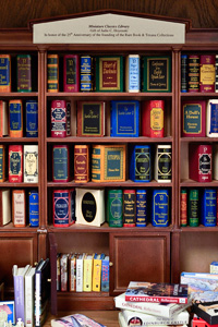 Miniature books on display. (Photo by Michael Clements)