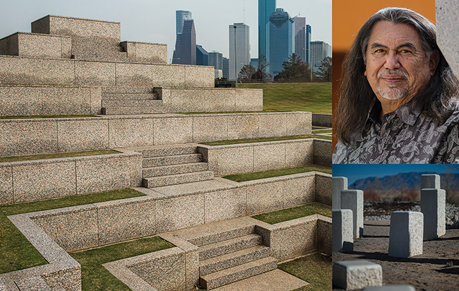 Jesús Moroles ('78), sculptor and National Medal of the Arts recipient, has work in public spaces worldwide, including the Houston Police Officers Memorial.