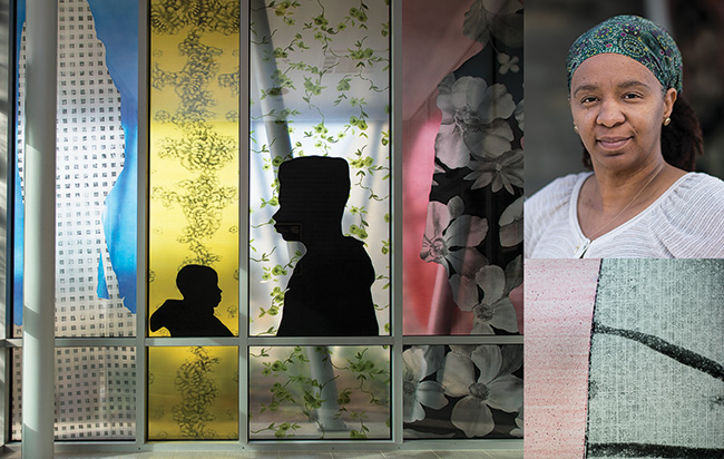 Letitia Huckaby ('10 M.F.A.) used photography and mixed media for a public installation at Oak Cliff Branch Library in Dallas.