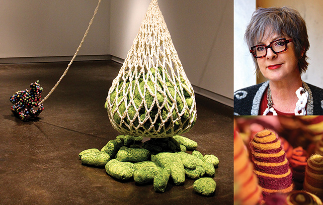 Leisa Rich ('07 M.F.A.), fiber artist, creates 3-D installations for traveling exhibitions at airports and universities.