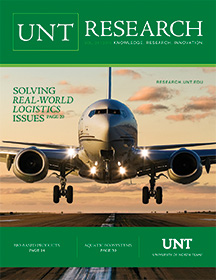 2015 UNT Research magazine cover