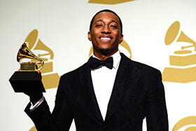 Lecrae ('02) at the 2015 Grammy Awards. (Photo by Frazer Harrison/Getty Images)