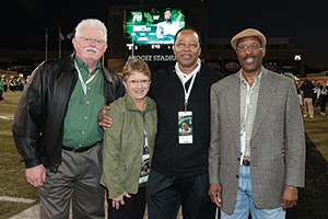 "From left, Willie Parker, Judy Buckles Nelson, Leonard Dunlap and Walter ""Weasel"" Johnson. (Photo by Rick Yeatts)"