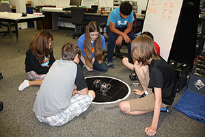 Students participating at Robocamp. (Photo by Angela Nelson)