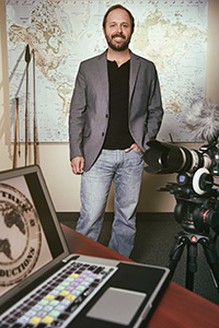 Casey Carr ('01), filmmaker for Globe Trek Productions and general manager of Sharon Carr Travel agency in Dallas. (Photo by Gary Payne)