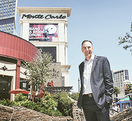 Mike Pistana ('93), vice president of sales for Monte Carlo Resort and Casino in Las Vegas, Nev. (Photo by Jesse Antonio)
