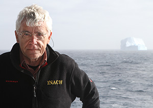 James Kennedy, Regents Professor of biology, above, and Tamara Contador ('06, '11 Ph.D.), University of Magallanes professor, studied this spring in Antarctica as part of the Chilean Antarctic Institute's 51st Antarctic Science Expedition. (Photo by Gonzalo Arriagada)