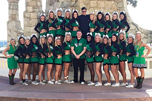 North Texas Cheer team (Photo by Tracie O'Neil)