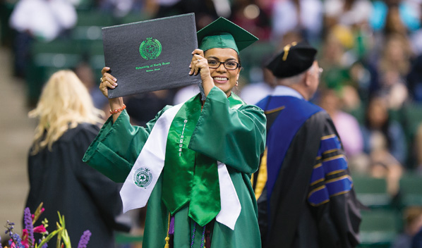 2015 University of North Texas graduate (Photo by Michael Clements)