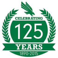 UNT 125 logo
