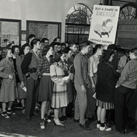 1942 students at the post office