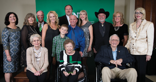 Members of the Hoke family received the Generations of Excellence Award at the 2015 Distinguished Alumni Achievement Awards this fall. (Photo by Ahna Hubnik)