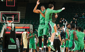 UNT basketball (Photo by Rick Yeatts)