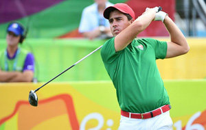 Rodolfo Cazaubon, former member of UNT golf team, competing at the 2016 Rio Summer Olympics. (Photo by Jim Watson)