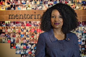Sherasa Thomas ('11 M.P.A.), director of educational initiatives for Big Brothers Big Sisters (Photo by Ahna Hubnik)