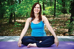 Theresa Morrow Polley ('86), yoga instructor and owner of Retreat in the Pines in Mineola (Photo by Michael Clements)