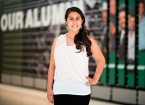 """Junior Selena Garcia is the inaugural recipient of the William T. """"Bill"""" and Margie Bryant Scholarship for UNT College of Education students. (Photo by Gary Payne)"""