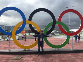 Ted Emrich ('09) at the 2016 Rio Summer Olympics