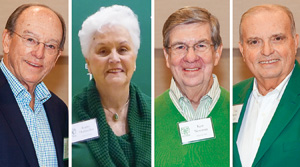From left, Jim McNatt ('66), Kathy Hufstedler ('66), Ken Newman ('66) and Ernie Kuehne ('66) were among the Golden Eagles returning for their 50th reunion this fall.