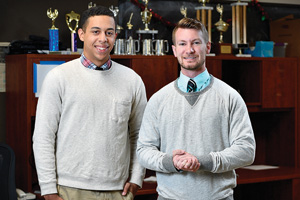 From left to right, Abron Hester and Garrett Hammonds. (Photo by Michael Clements)
